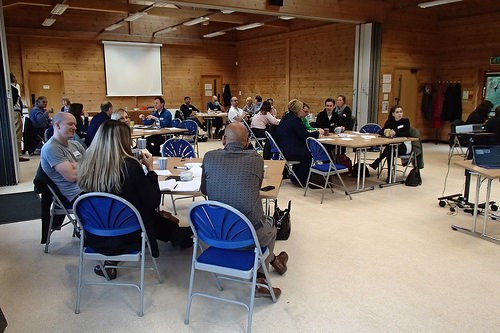 Business conference at the Countryside Centre at Hinchingbrooke Country Park