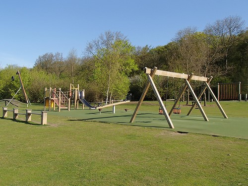 Play area at Hinchingbrooke Country Park