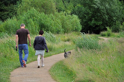 Dog walkers at Hinchingbrooke Country Park