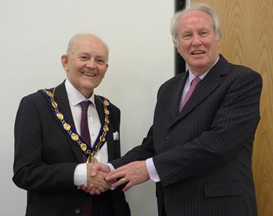 Councillors Richard West and Peter Bucknell