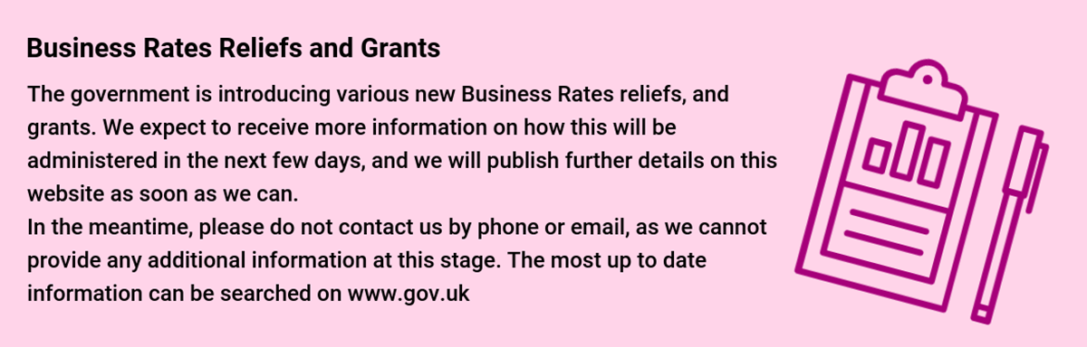 Business Rates Reliefs and Grants